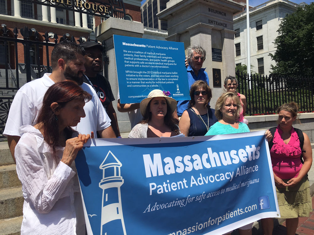 Medical marijuana advocates and patients on Monday