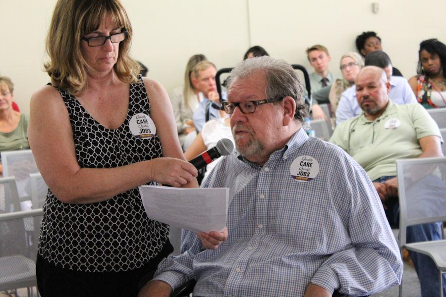 Charlie Carr, legislative liaison for the Disabili