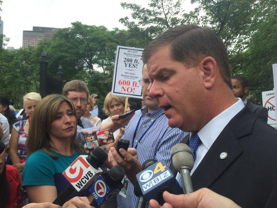 Boston Mayor Martin Walsh spoke to the media about