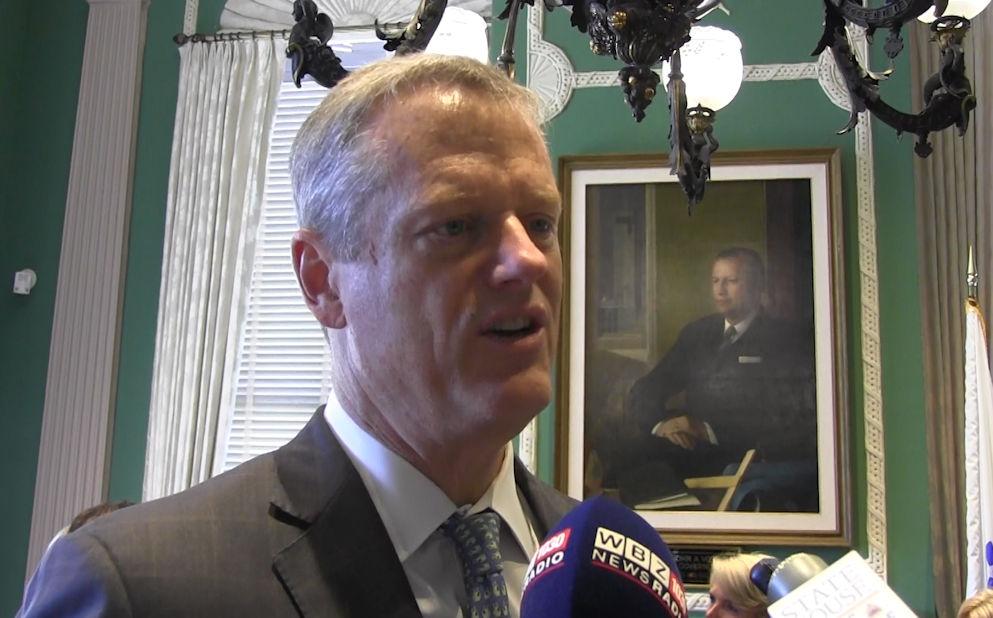 Gov. Charlie Baker addressed the FY17 budget agree