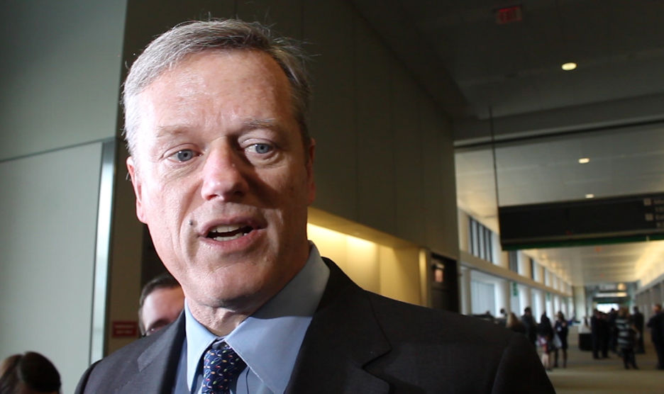 Gov. Charlie Baker addressed reporters' questions