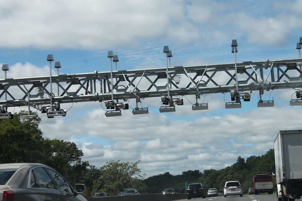 New electronic tolling gantries have been construc