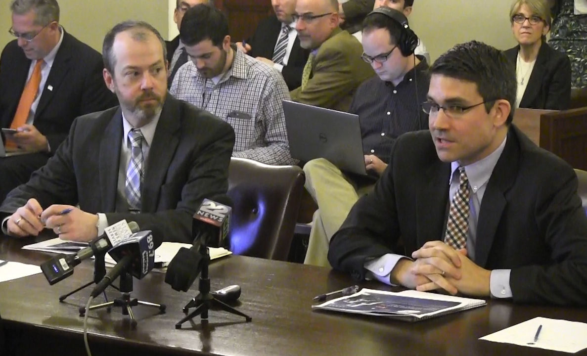 Justin Stempeck (right) and Paul Connelly (left),